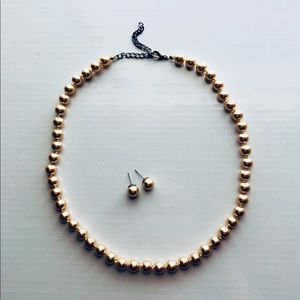 Jewelry - Champagne Necklace & Earrings
